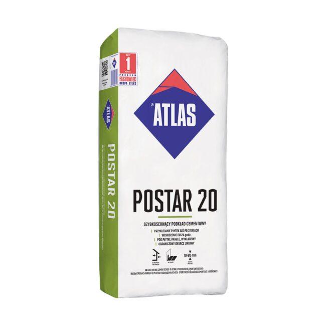POSTAR 20 szybkoschnący podkład cementowy 25kg ATLAS