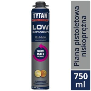 Piana pistoletowa LOW EXPANSION 750ml TYTAN SELENA