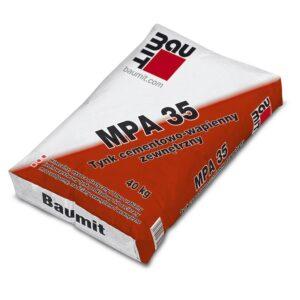 BAUMIT MPA 35 Tynk cementowo-wapienny zewnętrzny 25kg