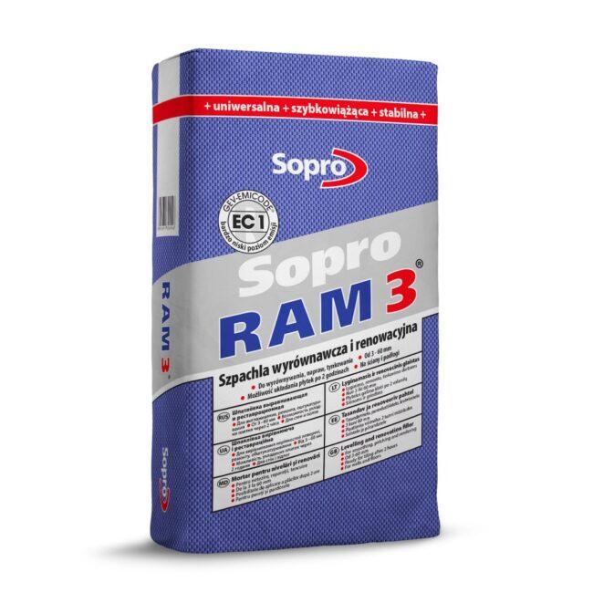 SOPRO 454 RAM3 Szpachla wyrównująca i renowacyjna 25kg
