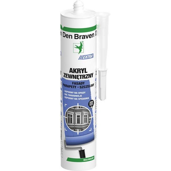 Akryl Extra Zewnętrzy Biały 300ml DEN BRAVEN