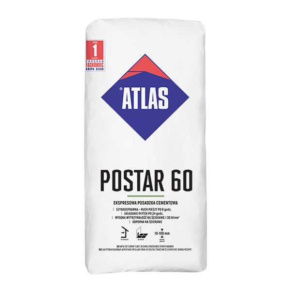POSTAR 60 EKSPRESOWA Posadzka cementowa 25kg ATLAS