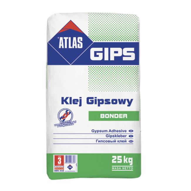Klej BONDER 25kg gipsowy do płyt G-K ATLAS