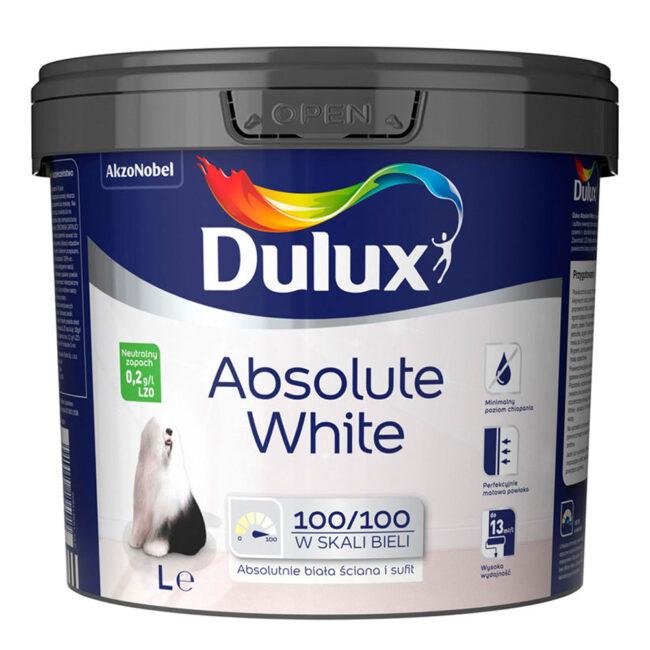 Farba biała DULUX ABSOLUTE WHITE 3