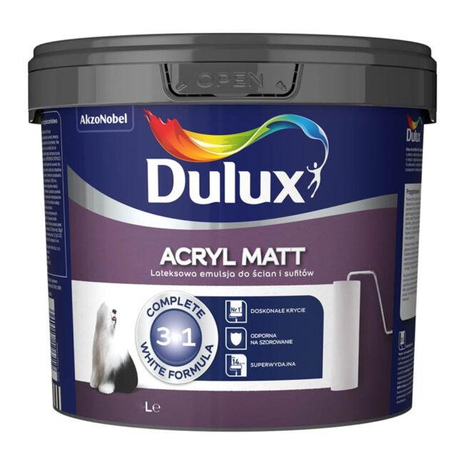 DULUX ACRYL MATT farba WEWNĘTRZNA biała 3L