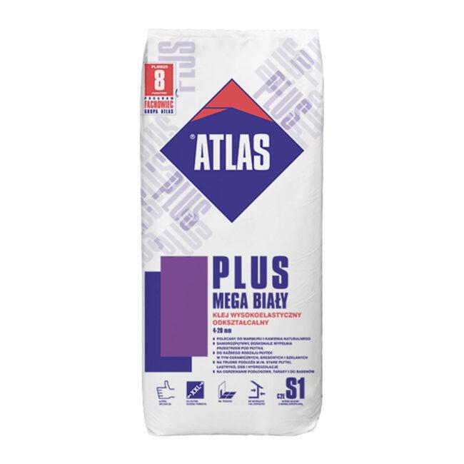 Klej PLUS MEGA biały 25kg ATLAS