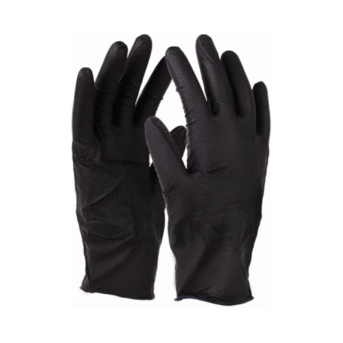 Rękawice nitrax GRIP Black L-XL STALCO 5 par w opakowaniu