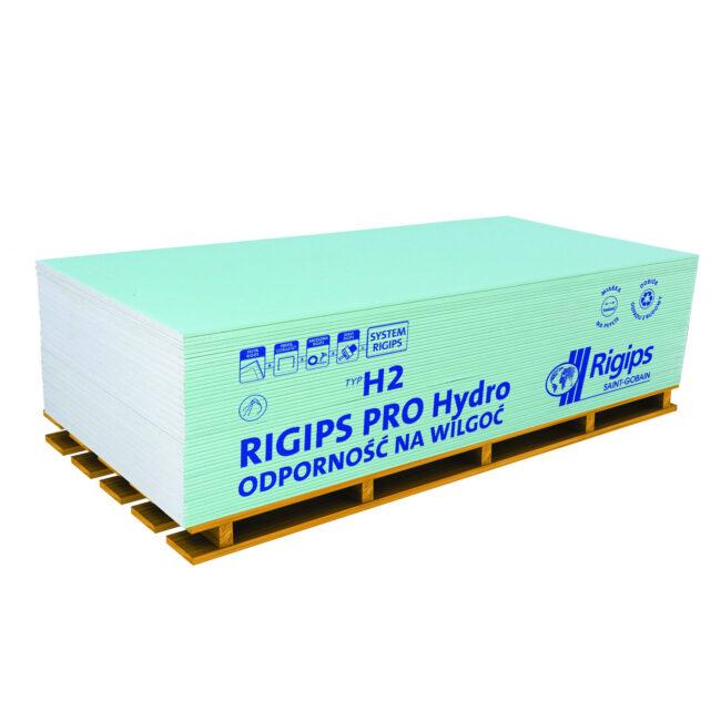 Płyta GKBI TYP H2 Impregnowana  WYMIARY RIGIPS