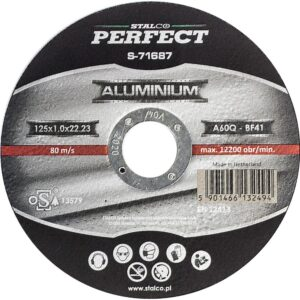 Tarcza do aluminium płaska 125x1
