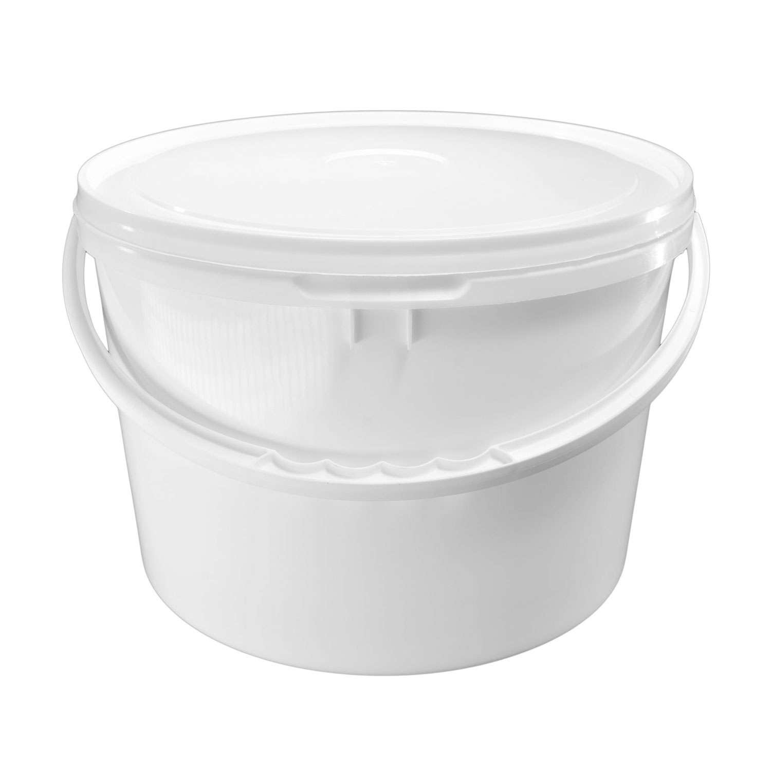 Wiadro białe 10L z pokrywką STALCO