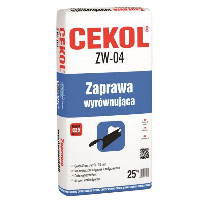CEKOL ZW-04 Zaprawa wyrównująca 25kg CEDAT
